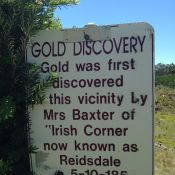 The first discovery of NSW gold in 1855 at Reidsdale.